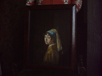 Frances's original painting in frame